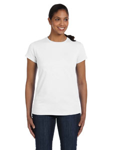 White Women's 5.2 oz. ComfortSoft® Cotton T-Shirt
