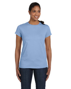 Light Blue Women's 5.2 oz. ComfortSoft® Cotton T-Shirt