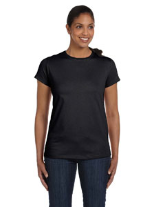 Black Women's 5.2 oz. ComfortSoft® Cotton T-Shirt