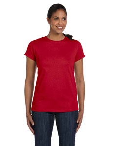 Deep Red Women's 5.2 oz. ComfortSoft® Cotton T-Shirt