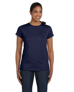 Navy Women's 5.2 oz. ComfortSoft® Cotton T-Shirt