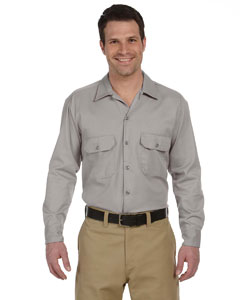 Silver Gray Men's 5.25 oz. Long-Sleeve Work Shirt
