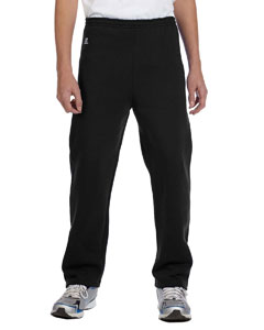 Black Youth Dri-Power® Fleece Open-Bottom Pant