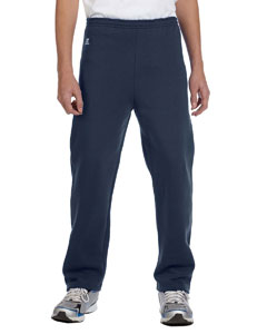 J Navy Youth Dri-Power® Fleece Open-Bottom Pant