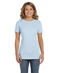 Pale Blue Women's Jersey Short-Sleeve T-Shirt