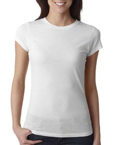 White Ladies' Poly/Cotton Short-Sleeve Tee