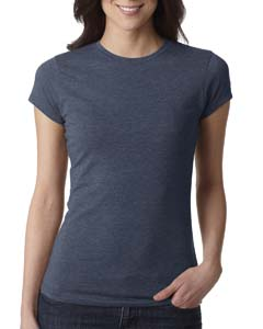 Indigo Ladies' Poly/Cotton Short-Sleeve Tee
