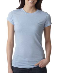 Dusty Blue Ladies' Poly/Cotton Short-Sleeve Tee