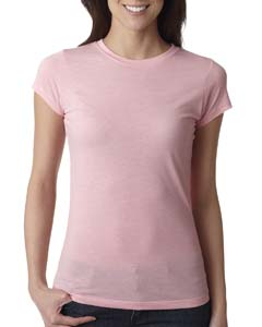 Dusty Pink Ladies' Poly/Cotton Short-Sleeve Tee