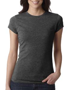 Charcoal Ladies' Poly/Cotton Short-Sleeve Tee