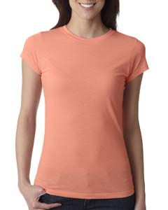 Light Orange Ladies' Poly/Cotton Short-Sleeve Tee