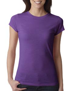 Purple Berry Ladies' Poly/Cotton Short-Sleeve Tee