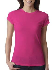 Raspberry Ladies' Poly/Cotton Short-Sleeve Tee