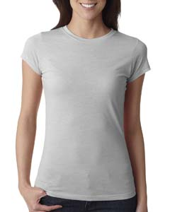 Silver Ladies' Poly/Cotton Short-Sleeve Tee