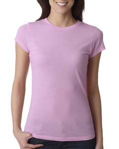 Lilac Ladies' Poly/Cotton Short-Sleeve Tee