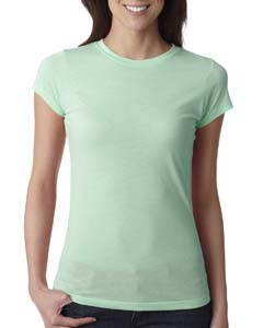 Mint Ladies' Poly/Cotton Short-Sleeve Tee