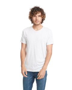 Heather White Men's Triblend Crew Tee