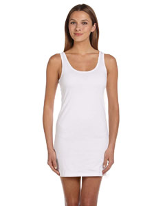White Women's Jersey Tank Dress