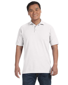 White Men's Ringspun Piqué Polo