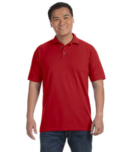 Red Men's Ringspun Piqué Polo