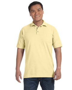 Yellow Haze Men's Ringspun Piqué Polo