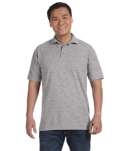 Heather Grey Men's Ringspun Piqué Polo