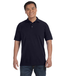 Navy Men's Ringspun Piqué Polo