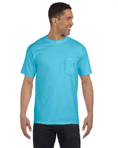 Lagoon Blue 6.1 oz. Garment-Dyed Pocket T-Shirt
