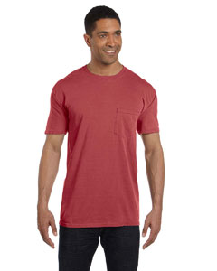 Crimson 6.1 oz. Garment-Dyed Pocket T-Shirt