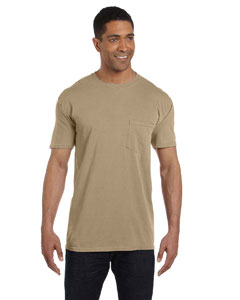 Khaki 6.1 oz. Garment-Dyed Pocket T-Shirt