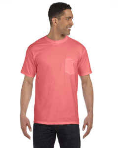 Watermelon 6.1 oz. Garment-Dyed Pocket T-Shirt