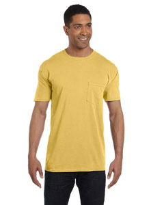 Mustard 6.1 oz. Garment-Dyed Pocket T-Shirt