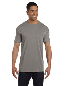 Grey 6.1 oz. Garment-Dyed Pocket T-Shirt