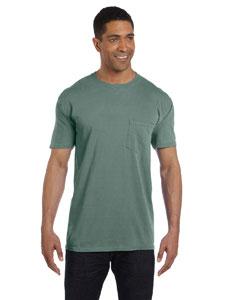 Light Green 6.1 oz. Garment-Dyed Pocket T-Shirt