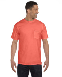 Bright Salmon 6.1 oz. Garment-Dyed Pocket T-Shirt