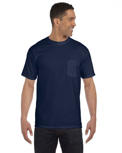 True Navy 6.1 oz. Garment-Dyed Pocket T-Shirt