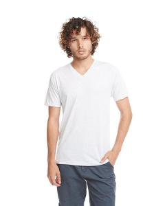 Heather White Men's Triblend V-Neck Tee