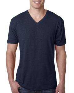 Vintage Navy Men's Triblend V-Neck Tee