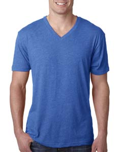 Vintage Royal Men's Triblend V-Neck Tee