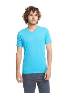 Vintage Turq Men's Triblend V-Neck Tee