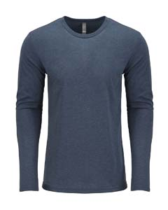 Indigo Men's Triblend Long-Sleeve Crew Tee
