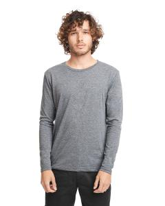 Premium Heather Men's Triblend Long-Sleeve Crew Tee