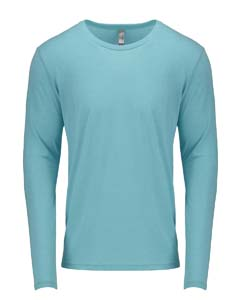 Tahiti Blue Men's Triblend Long-Sleeve Crew Tee