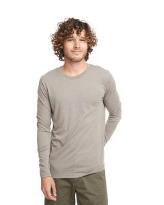 Venetian Gray Men's Triblend Long-Sleeve Crew Tee