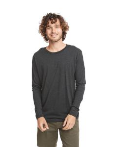 Vintage Black Men's Triblend Long-Sleeve Crew Tee
