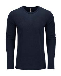 Vintage Navy Men's Triblend Long-Sleeve Crew Tee