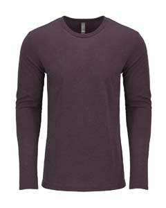 Vintage Purple Men's Triblend Long-Sleeve Crew Tee