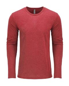 Vintage Red Men's Triblend Long-Sleeve Crew Tee