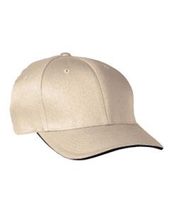 Khaki/navy Cool & Dry® Sandwich Cap