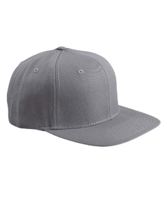 Grey 6-Panel Structured Flat Visor Classic Snapback